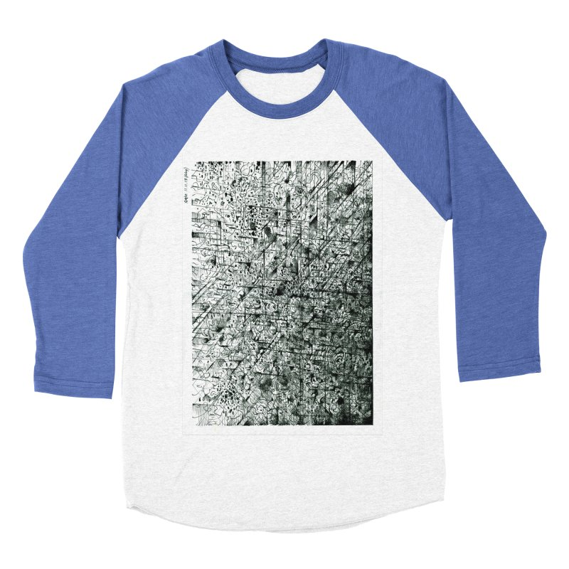 Drawing Blog No.5 - 11.11.13 Men's Baseball Triblend Longsleeve T-Shirt by schizo pop