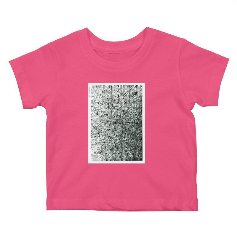 Drawing Blog No.5 - 11.11.13 Kids Baby T-Shirt by schizo pop