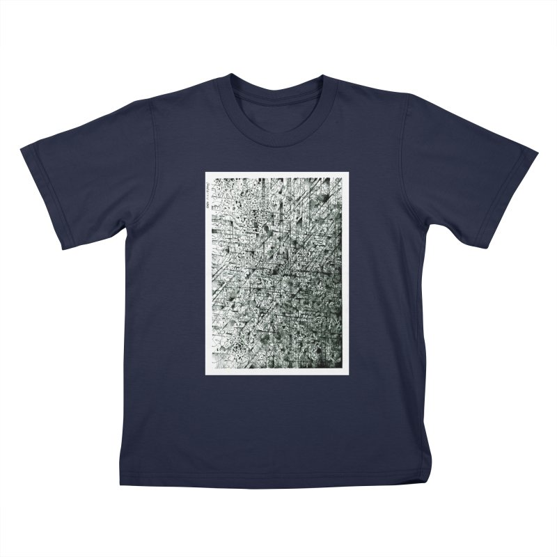 Drawing Blog No.5 - 11.11.13 Kids T-Shirt by schizo pop
