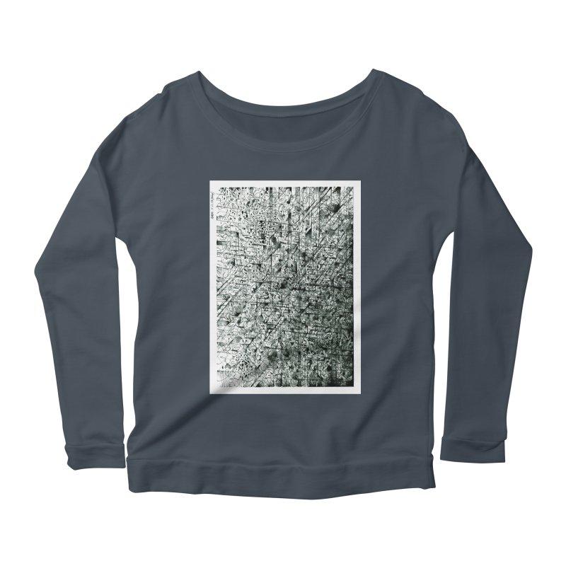 Drawing Blog No.5 - 11.11.13 Women's Scoop Neck Longsleeve T-Shirt by schizo pop