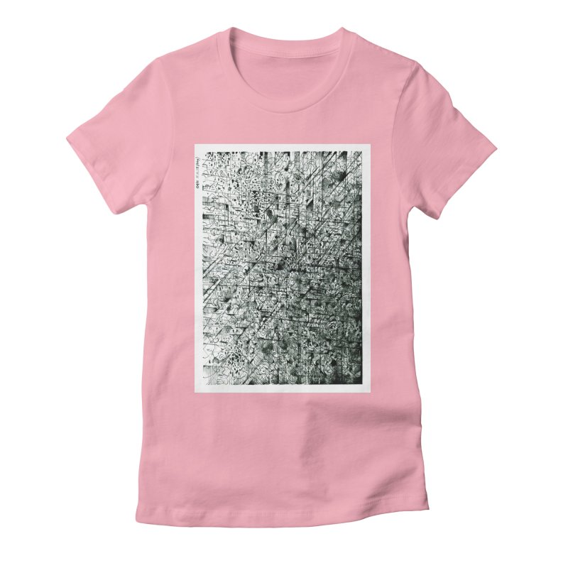 Drawing Blog No.5 - 11.11.13 Women's Fitted T-Shirt by schizo pop
