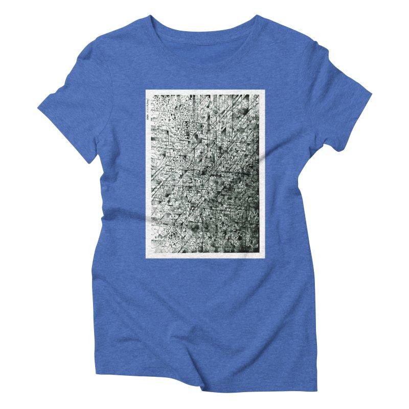 Drawing Blog No.5 - 11.11.13 Women's Triblend T-Shirt by schizo pop