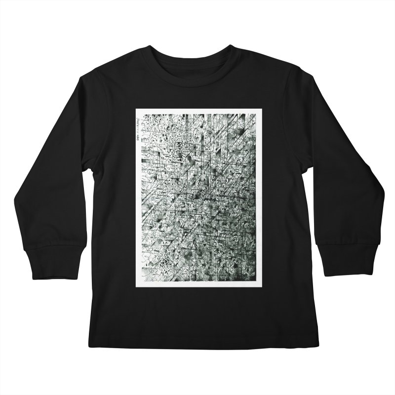Drawing Blog No.5 - 11.11.13 Kids Longsleeve T-Shirt by schizo pop