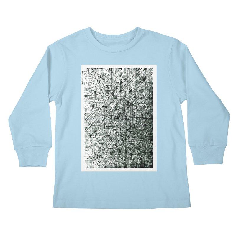 Drawing Blog No.5 - 11.11.13 Kids Longsleeve T-Shirt by schizo pop