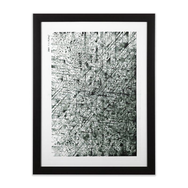 Drawing Blog No.5 - 11.11.13 Home Framed Fine Art Print by schizo pop