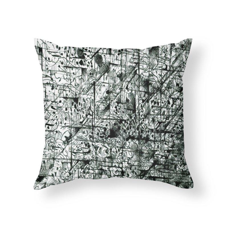 Drawing Blog No.5 - 11.11.13 Home Throw Pillow by schizo pop