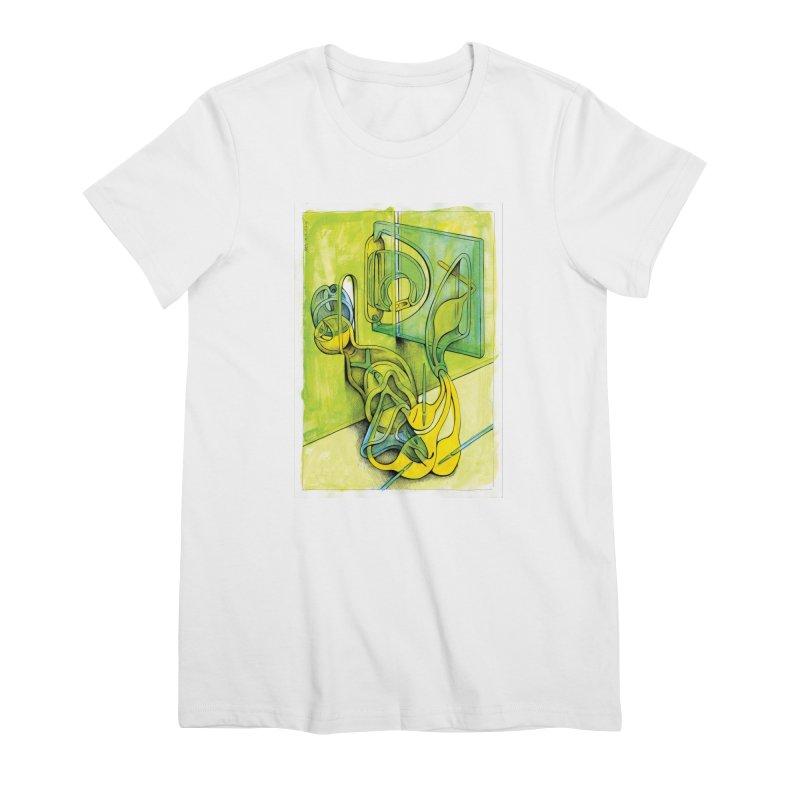 Drawing Blog No.5 - 14.12.13 Women's Premium T-Shirt by schizo pop