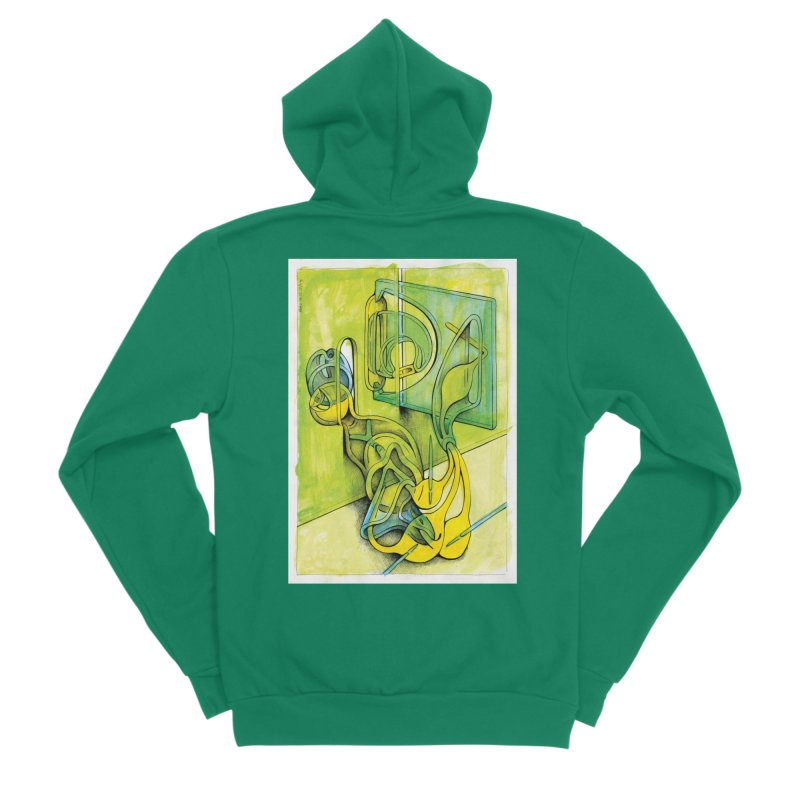 Drawing Blog No.5 - 14.12.13 Women's Sponge Fleece Zip-Up Hoody by schizo pop