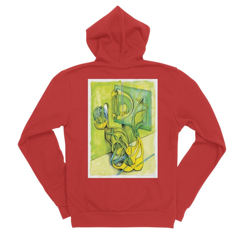 Drawing Blog No.5 - 14.12.13 Men's Zip-Up Hoody by schizo pop