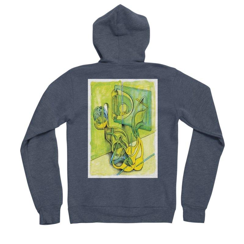 Drawing Blog No.5 - 14.12.13 Women's Sponge Fleece Zip-Up Hoody by schizo pop