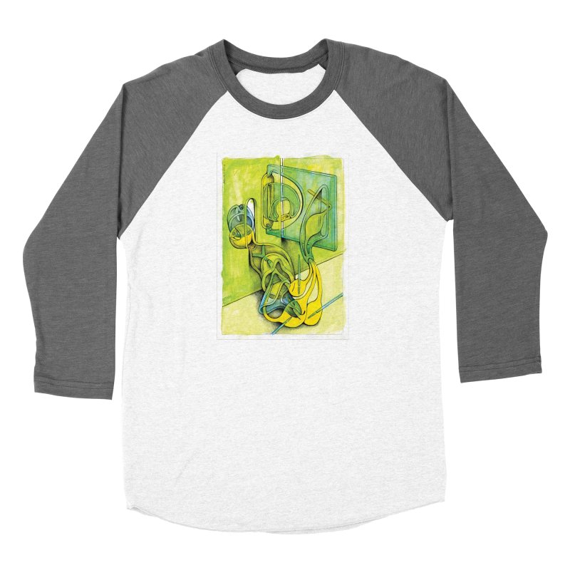 Drawing Blog No.5 - 14.12.13 Men's Baseball Triblend Longsleeve T-Shirt by schizo pop