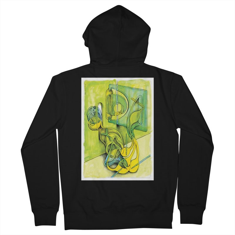 Drawing Blog No.5 - 14.12.13 Men's French Terry Zip-Up Hoody by schizo pop