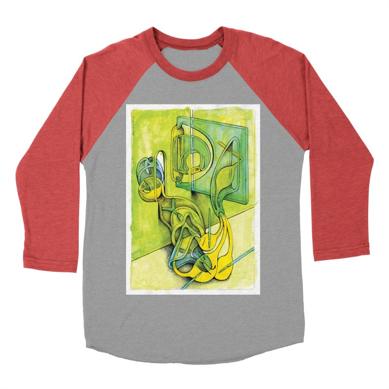 Drawing Blog No.5 - 14.12.13 Women's Baseball Triblend Longsleeve T-Shirt by schizo pop
