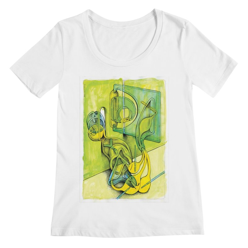 Drawing Blog No.5 - 14.12.13 Women's Regular Scoop Neck by schizo pop
