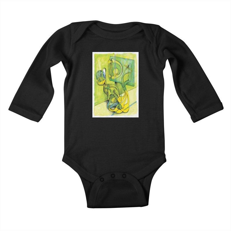 Drawing Blog No.5 - 14.12.13 Kids Baby Longsleeve Bodysuit by schizo pop