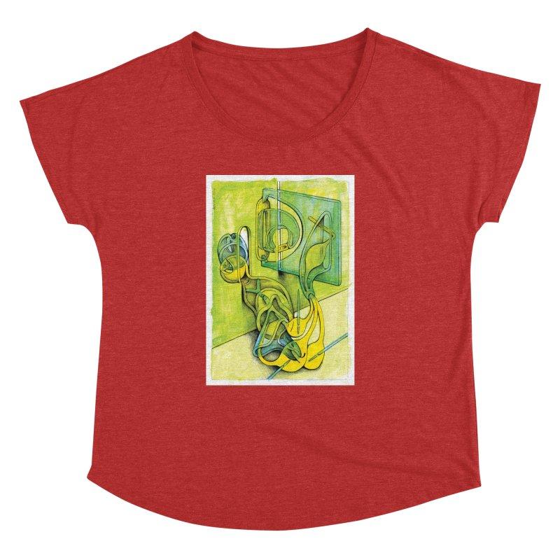 Drawing Blog No.5 - 14.12.13 Women's Dolman Scoop Neck by schizo pop