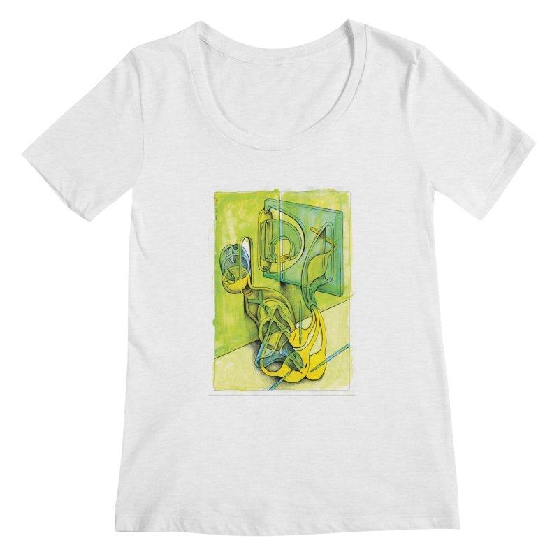 Drawing Blog No.5 - 14.12.13 Women's Regular Scoop Neck by schizo pop