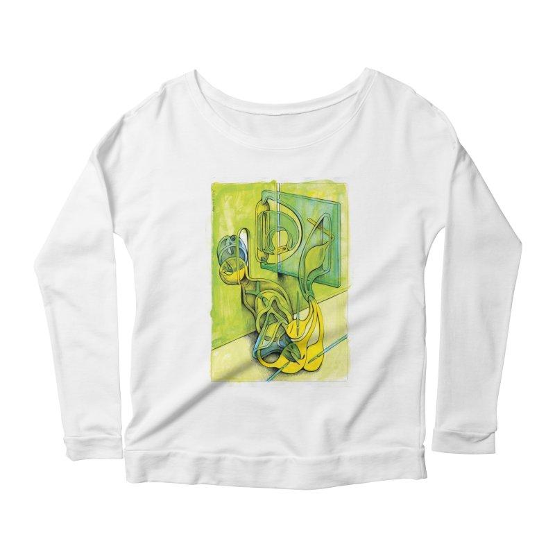 Drawing Blog No.5 - 14.12.13 Women's Scoop Neck Longsleeve T-Shirt by schizo pop
