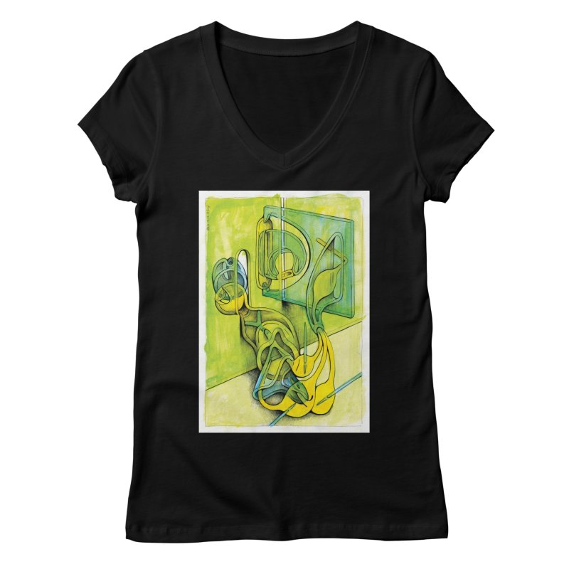 Drawing Blog No.5 - 14.12.13 Women's V-Neck by schizo pop