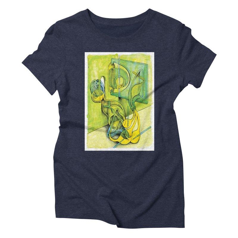 Drawing Blog No.5 - 14.12.13 Women's Triblend T-Shirt by schizo pop
