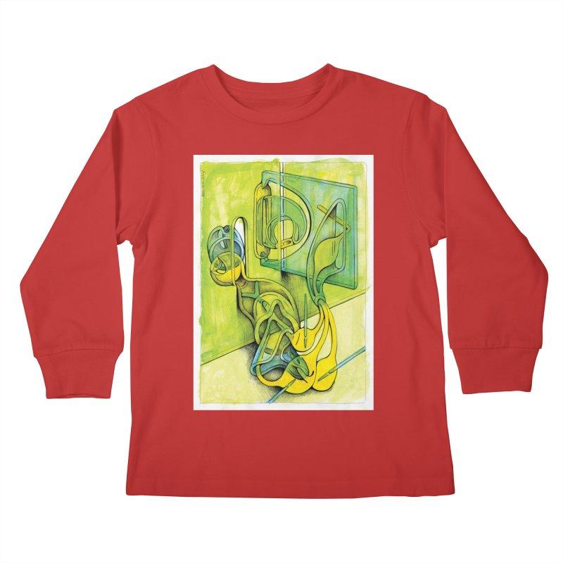 Drawing Blog No.5 - 14.12.13 Kids Longsleeve T-Shirt by schizo pop