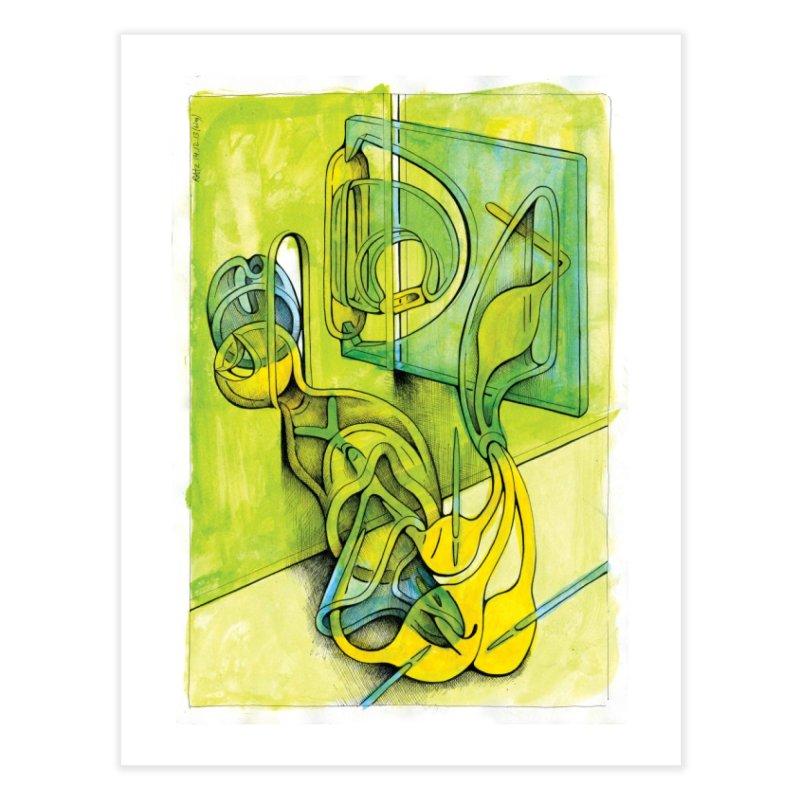 Drawing Blog No.5 - 14.12.13 Home Fine Art Print by schizo pop