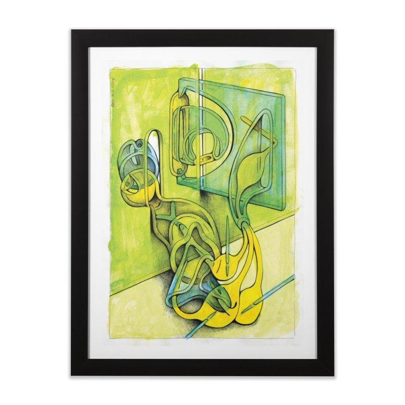 Drawing Blog No.5 - 14.12.13 Home Framed Fine Art Print by schizo pop