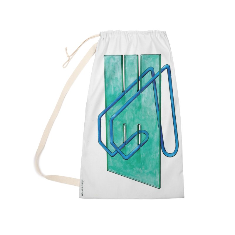 Drawing Blog No.5 - 10.4.14 Accessories Laundry Bag Bag by schizo pop