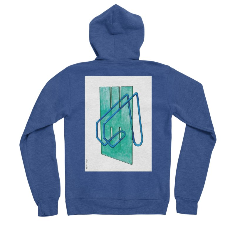 Drawing Blog No.5 - 10.4.14 Women's Sponge Fleece Zip-Up Hoody by schizo pop