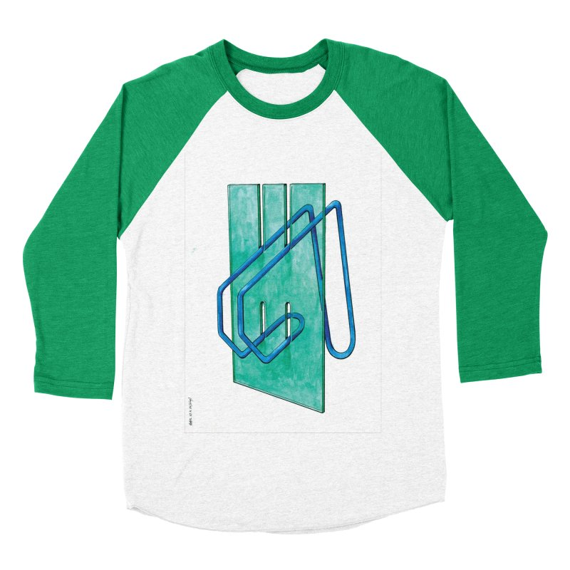 Drawing Blog No.5 - 10.4.14 Men's Baseball Triblend Longsleeve T-Shirt by schizo pop