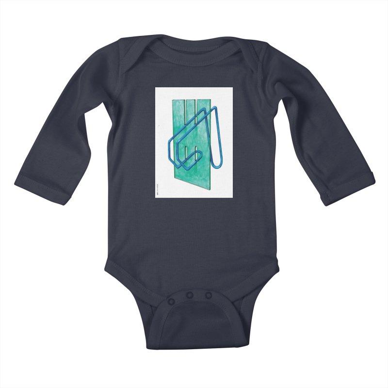 Drawing Blog No.5 - 10.4.14 Kids Baby Longsleeve Bodysuit by schizo pop