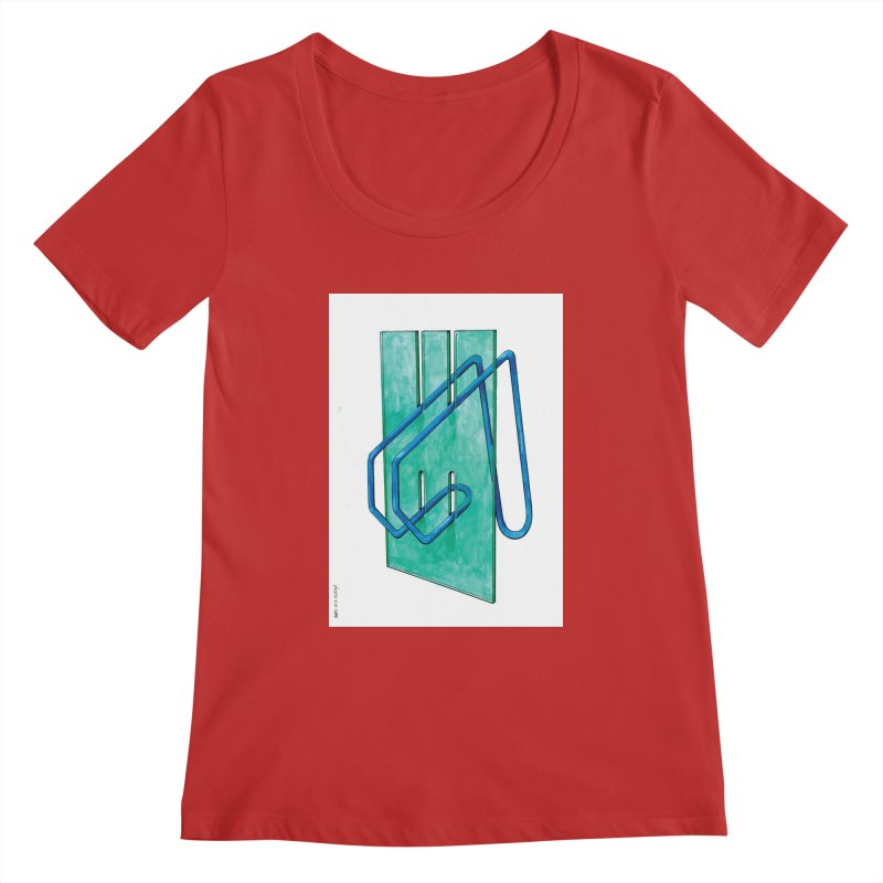 Drawing Blog No.5 - 10.4.14 Women's Regular Scoop Neck by schizo pop
