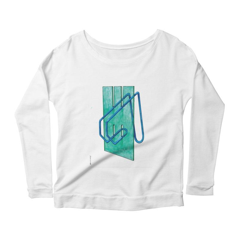 Drawing Blog No.5 - 10.4.14 Women's Scoop Neck Longsleeve T-Shirt by schizo pop