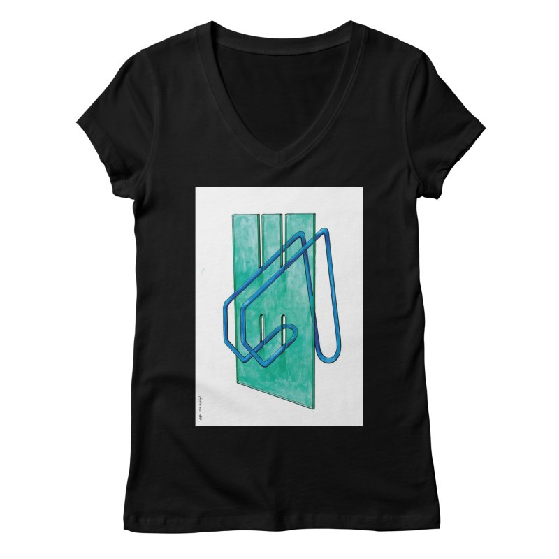 Drawing Blog No.5 - 10.4.14 Women's V-Neck by schizo pop