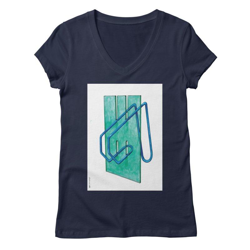 Drawing Blog No.5 - 10.4.14 Women's V-Neck by schizo pop