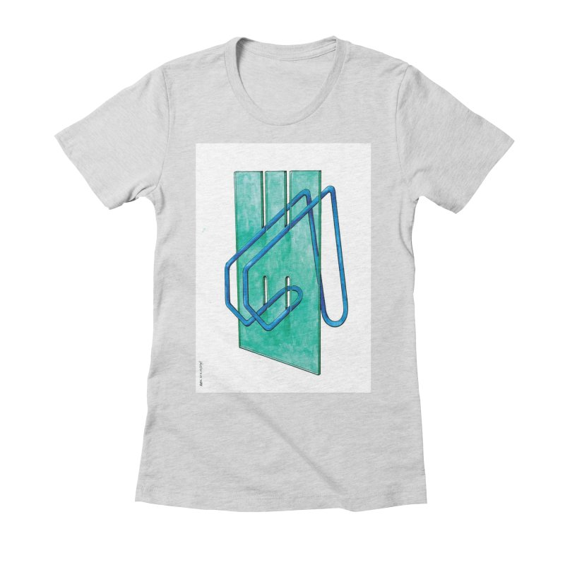 Drawing Blog No.5 - 10.4.14 Women's Fitted T-Shirt by schizo pop