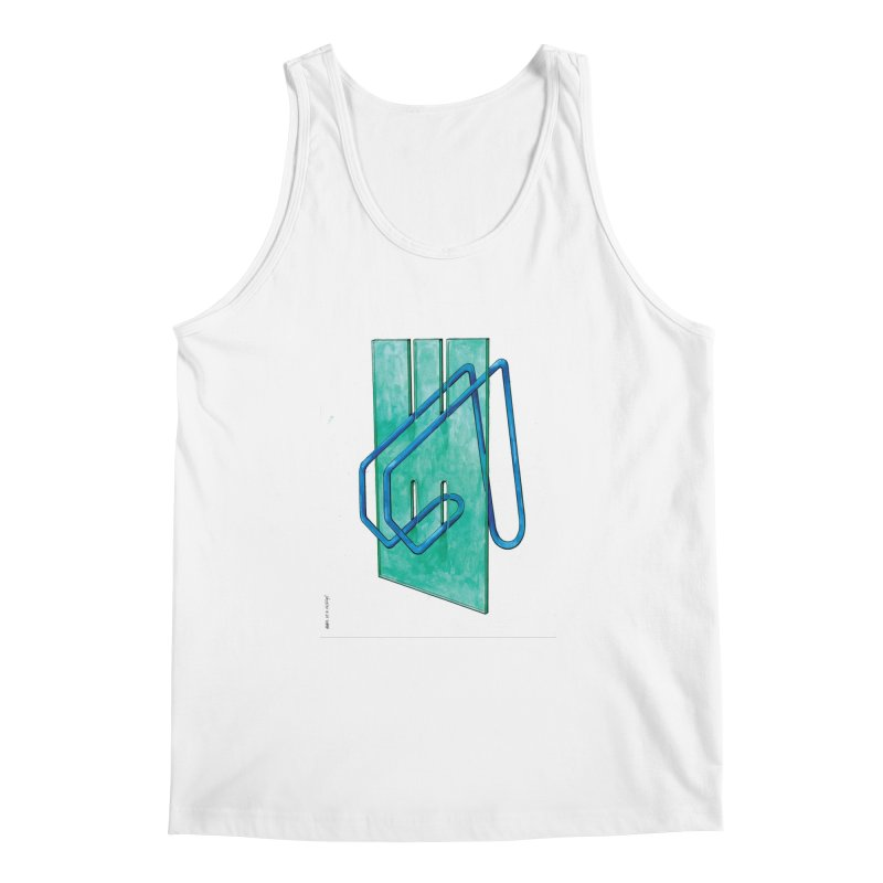 Drawing Blog No.5 - 10.4.14 Men's Regular Tank by schizo pop