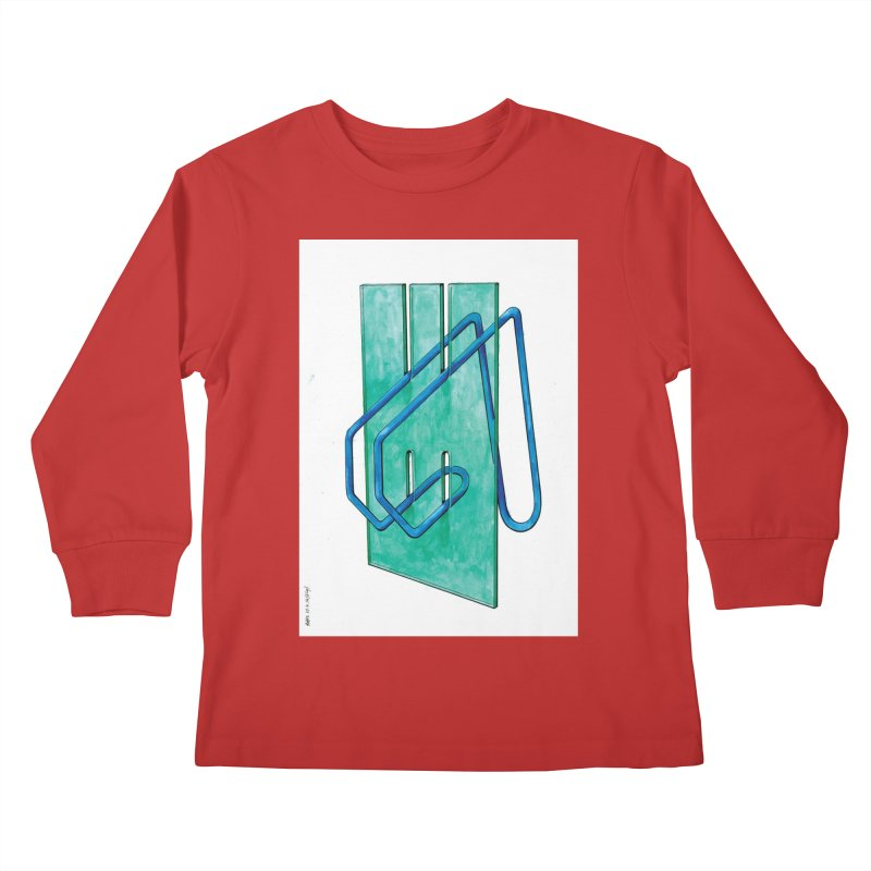 Drawing Blog No.5 - 10.4.14 Kids Longsleeve T-Shirt by schizo pop