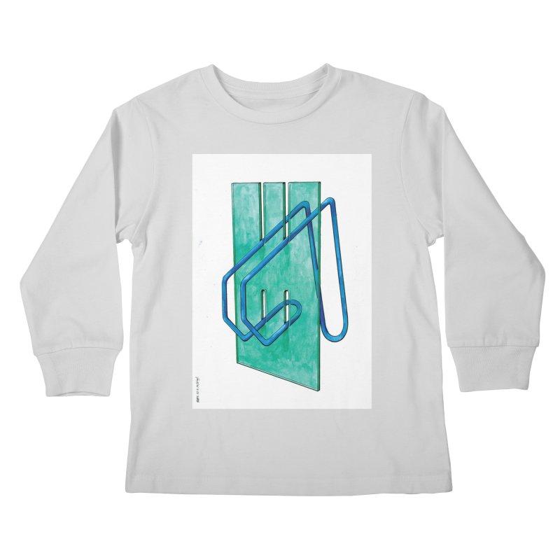 Drawing Blog No.5 - 10.4.14 Kids Longsleeve T-Shirt by schizo pop