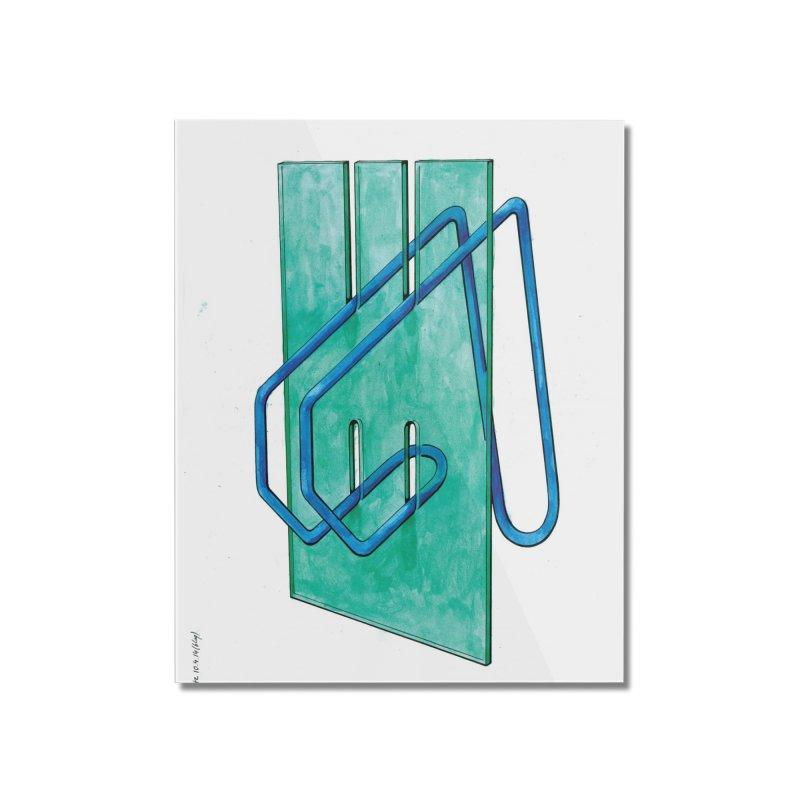 Drawing Blog No.5 - 10.4.14 Home Mounted Acrylic Print by schizo pop