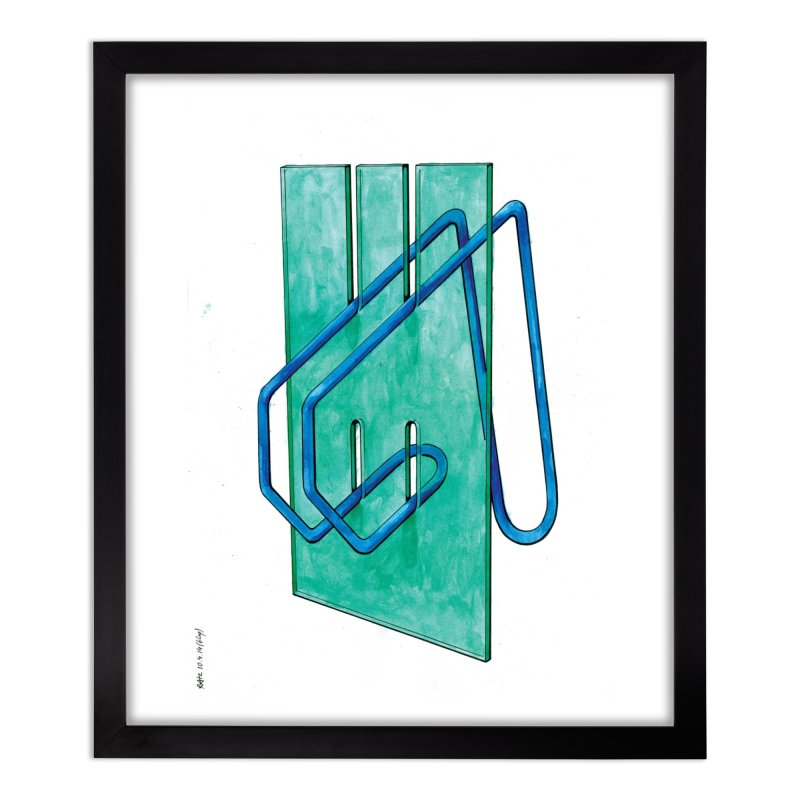 Drawing Blog No.5 - 10.4.14 Home Framed Fine Art Print by schizo pop