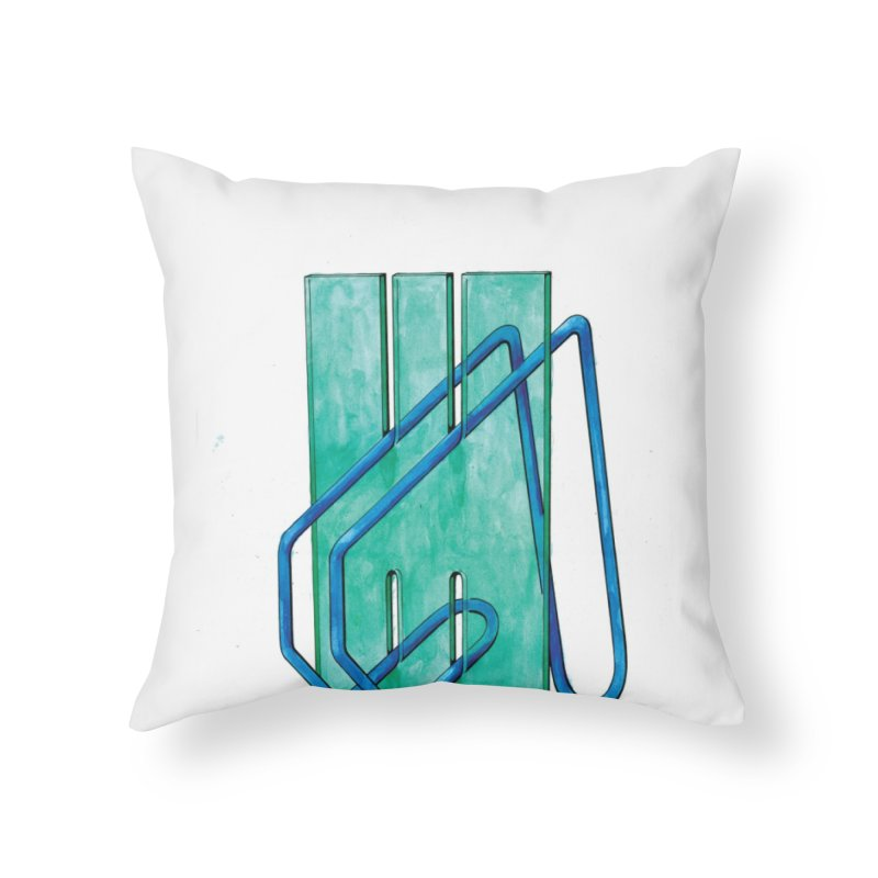 Drawing Blog No.5 - 10.4.14 Home Throw Pillow by schizo pop