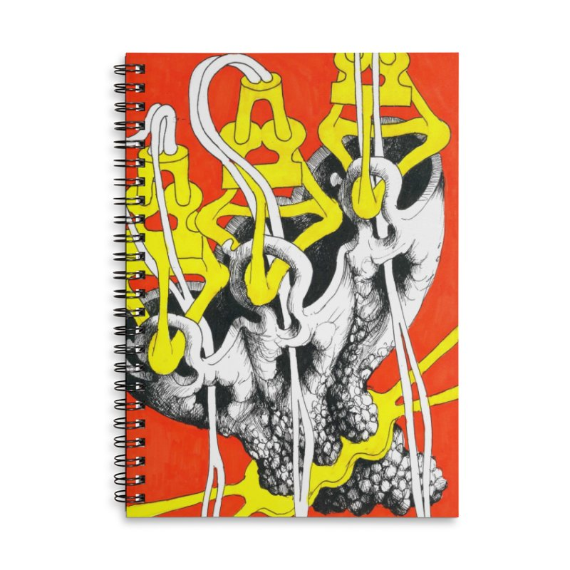 Drawing Blog No.2 - 10.4.09 Accessories Lined Spiral Notebook by schizo pop