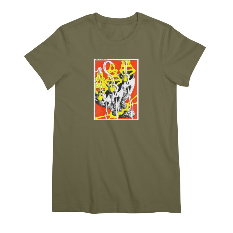 Drawing Blog No.2 - 10.4.09 Women's Premium T-Shirt by schizo pop