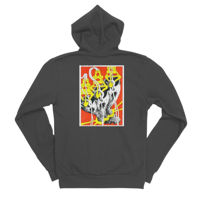 Drawing Blog No.2 - 10.4.09 Women's Sponge Fleece Zip-Up Hoody by schizo pop