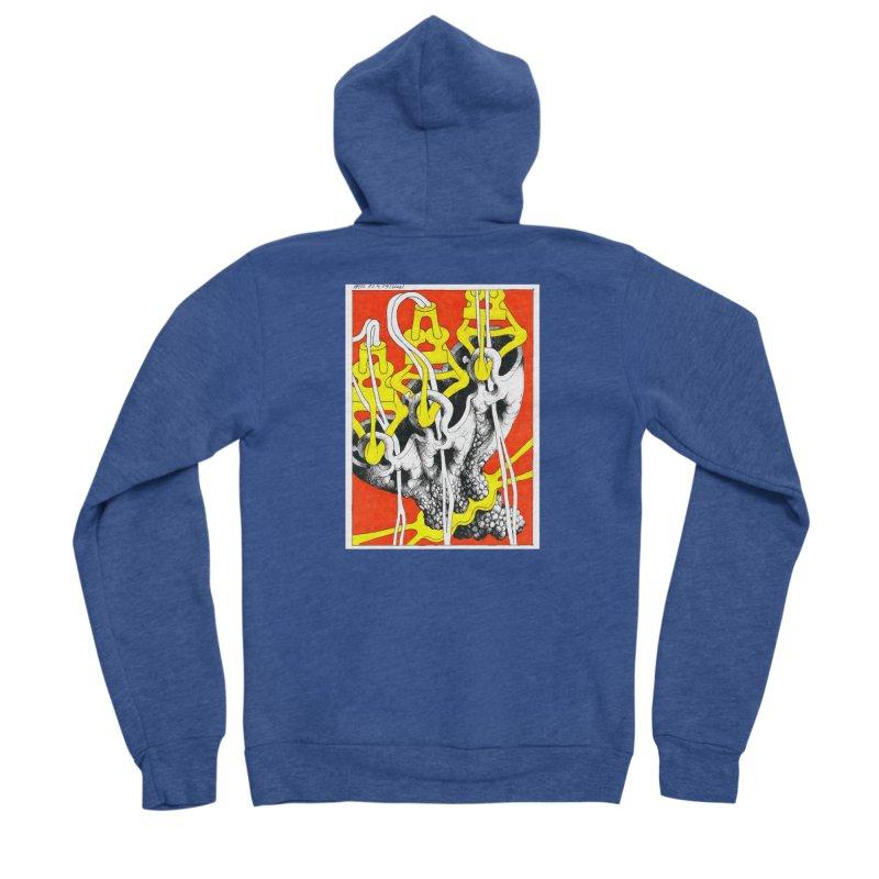 Drawing Blog No.2 - 10.4.09 Men's Sponge Fleece Zip-Up Hoody by schizo pop