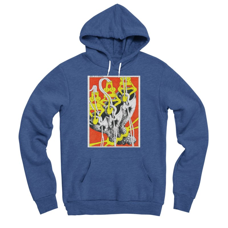 Drawing Blog No.2 - 10.4.09 Women's Sponge Fleece Pullover Hoody by schizo pop