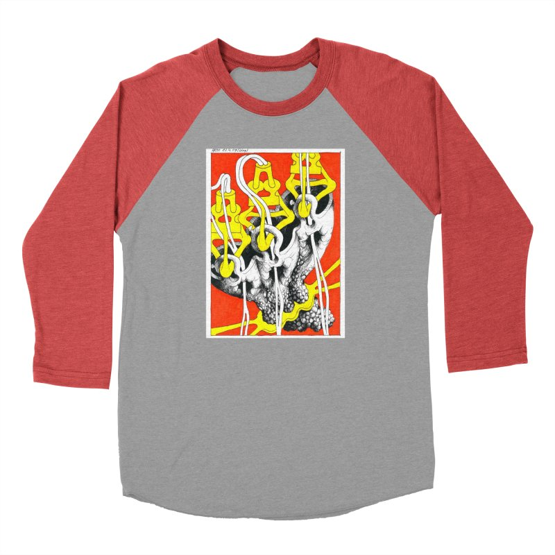Drawing Blog No.2 - 10.4.09 Men's Baseball Triblend Longsleeve T-Shirt by schizo pop
