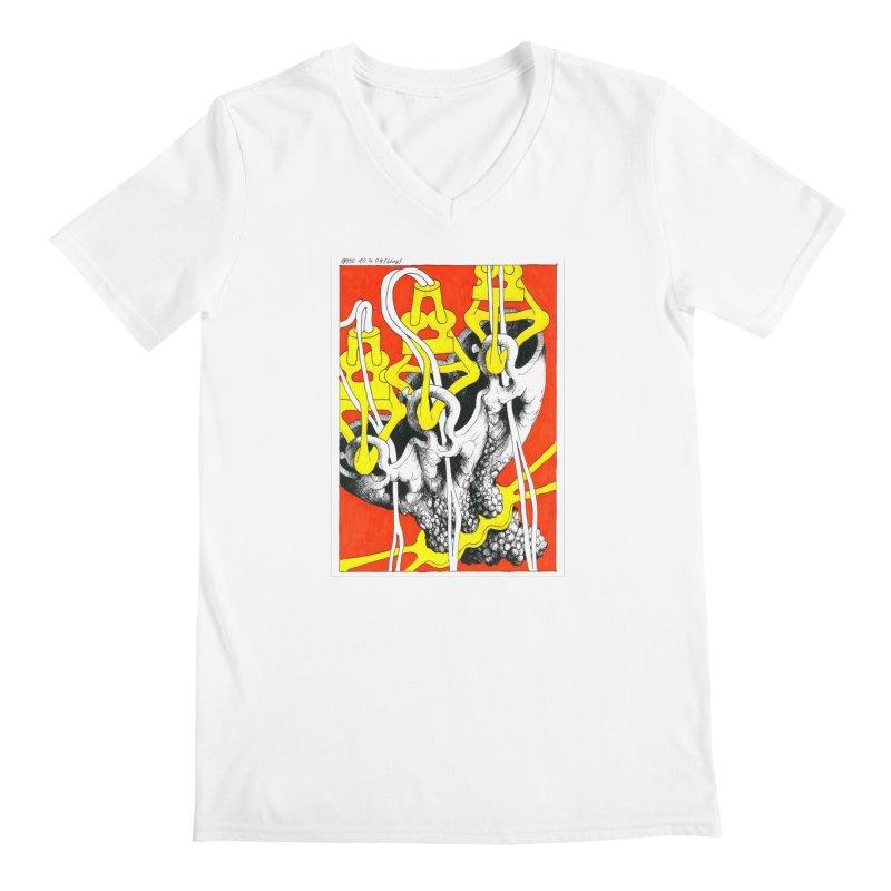 Drawing Blog No.2 - 10.4.09 Men's V-Neck by schizo pop