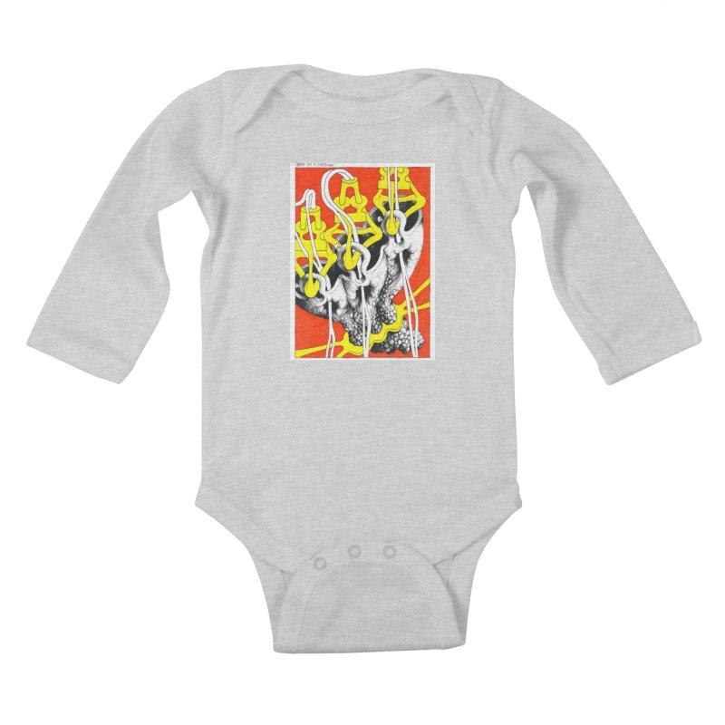 Drawing Blog No.2 - 10.4.09 Kids Baby Longsleeve Bodysuit by schizo pop